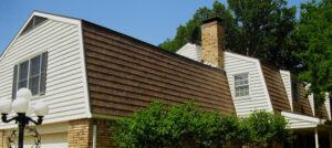 kasselwood metal shingle on a mansard roof